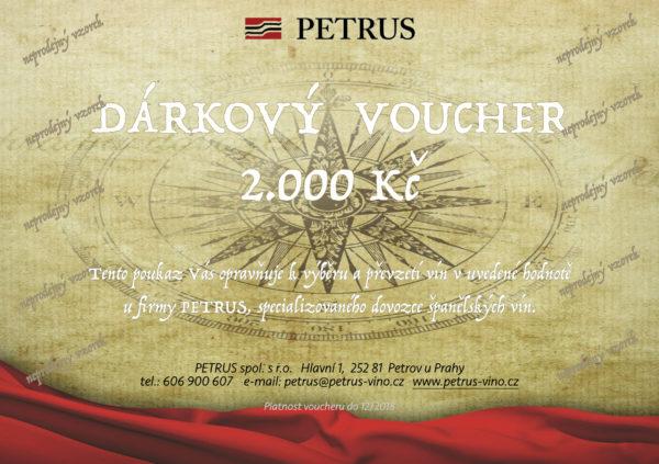 Voucher Petrus 2017 2000